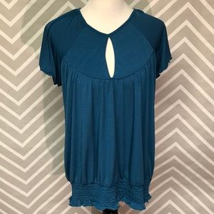 Studio Y Teal Polyester Blouse Size XL